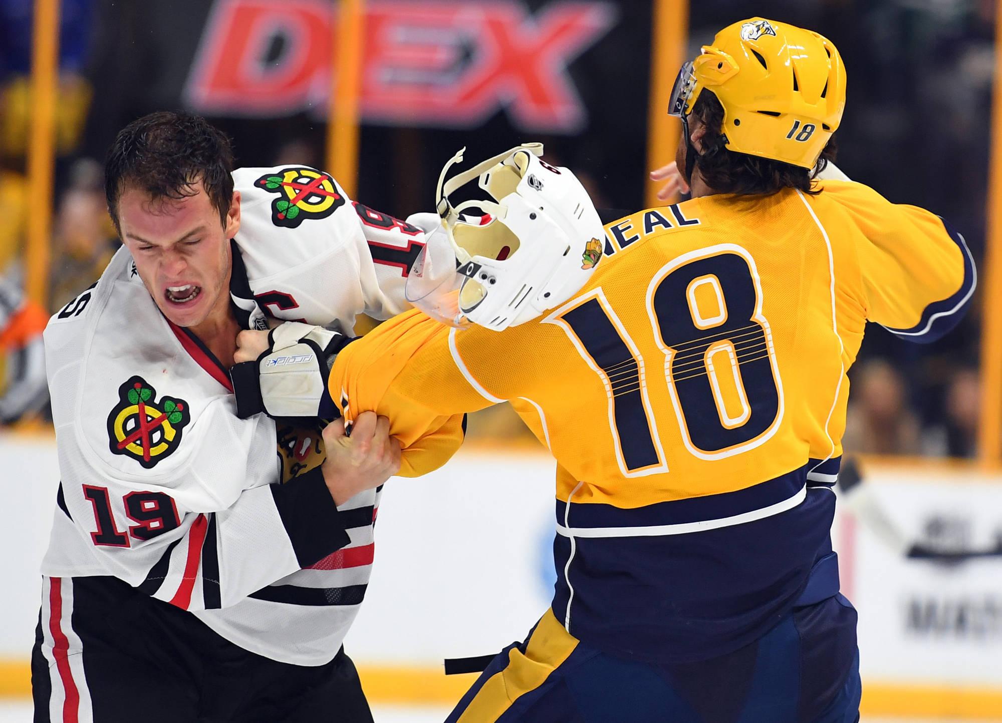 NHL Fight of the Week:  Jonathan Toews vs. James Neal