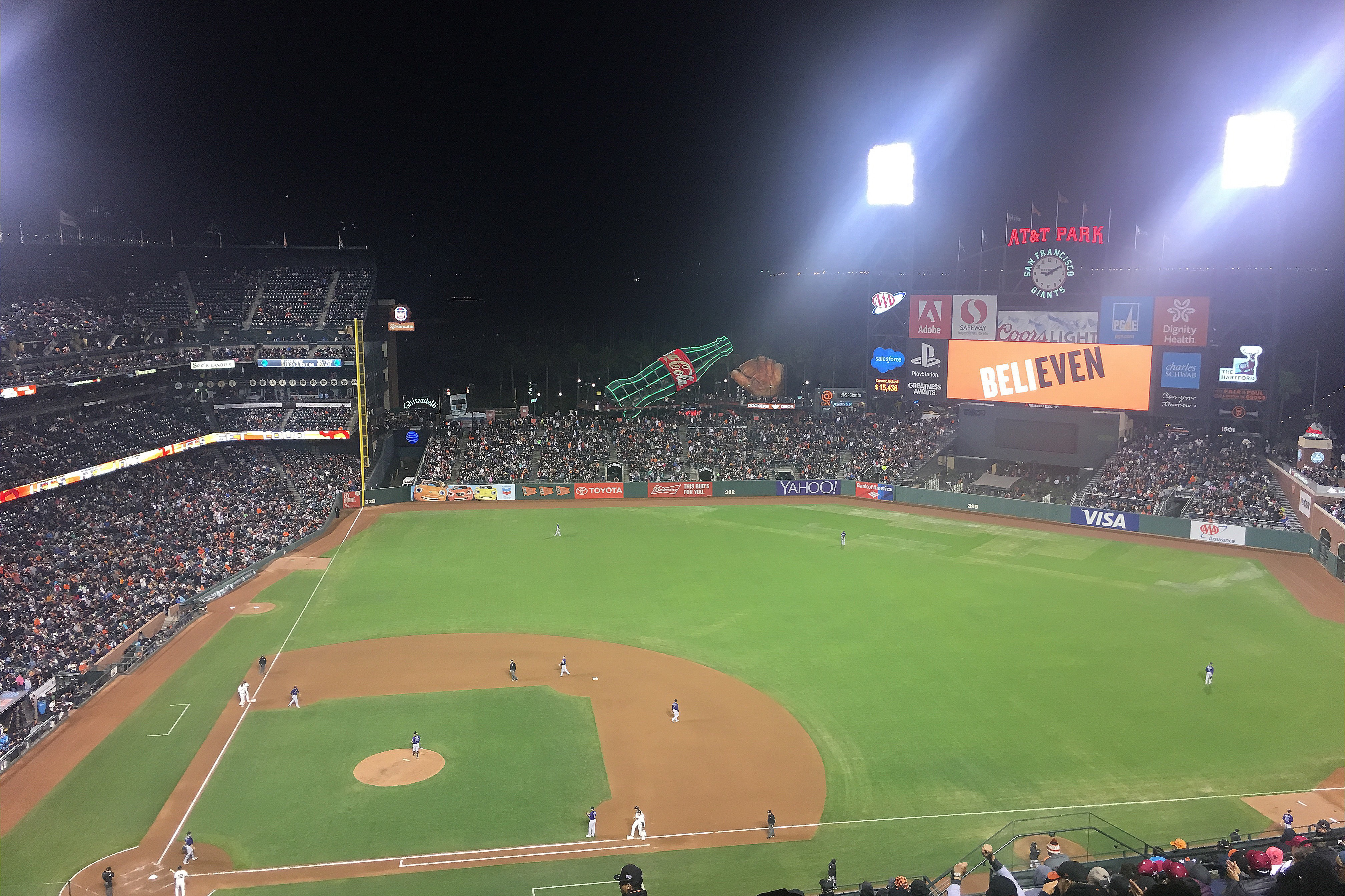 I was at the Giants game against the Rockies last night. Beli-EVEN magic happened