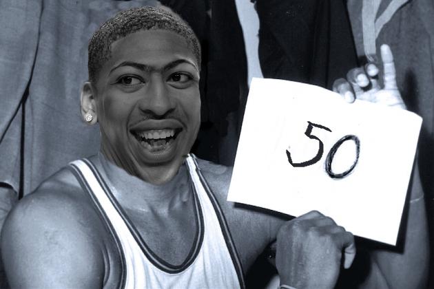 Anthony Davis scores 50 points in season opener.