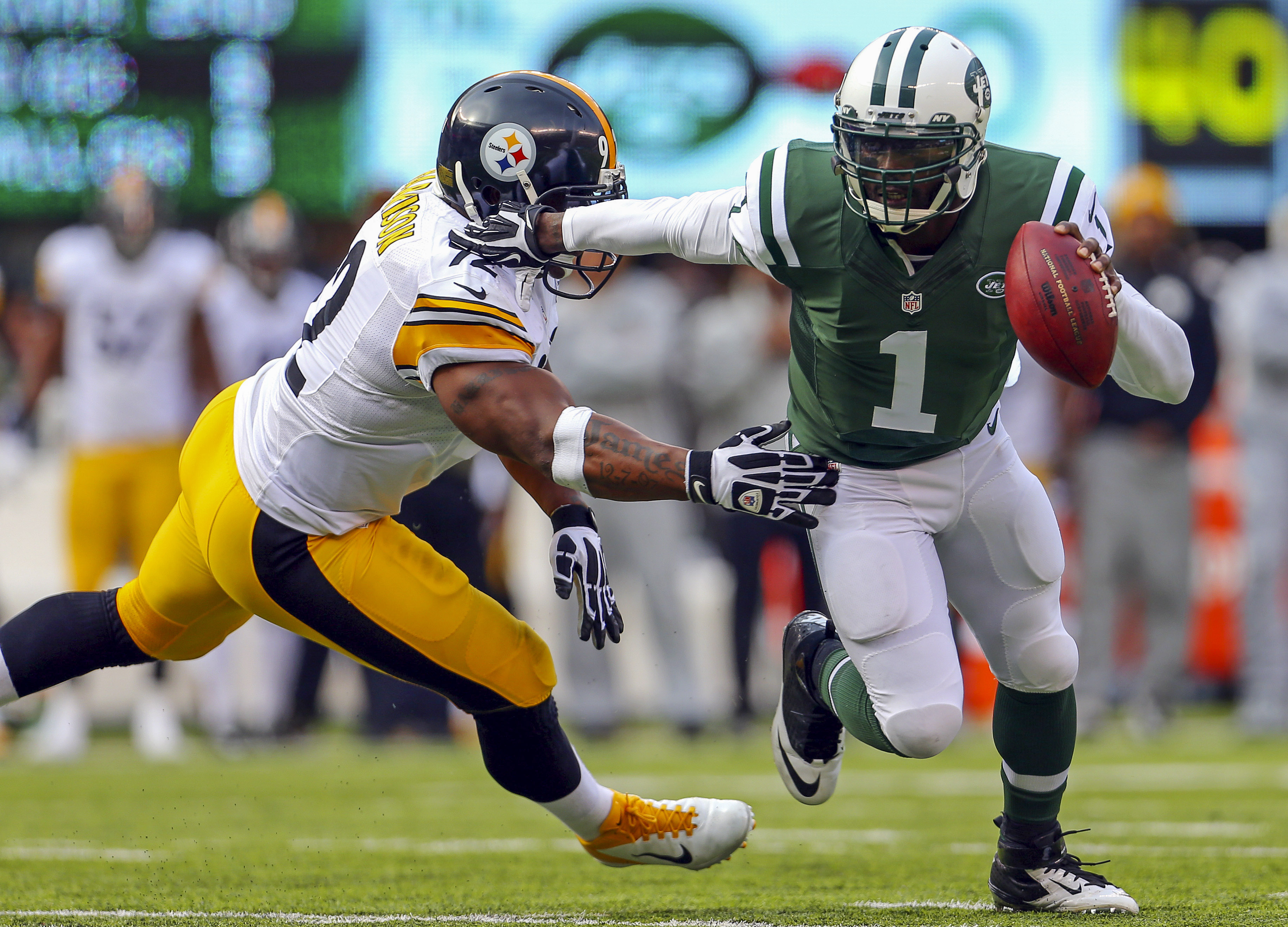 Mike Vick Leads Jets Past Steelers