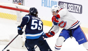 WATCH: Jets' center obliterates Canadiens' forward in dirty play