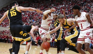 Indiana gets a huge win over No.21 Iowa in Big-10 Play.