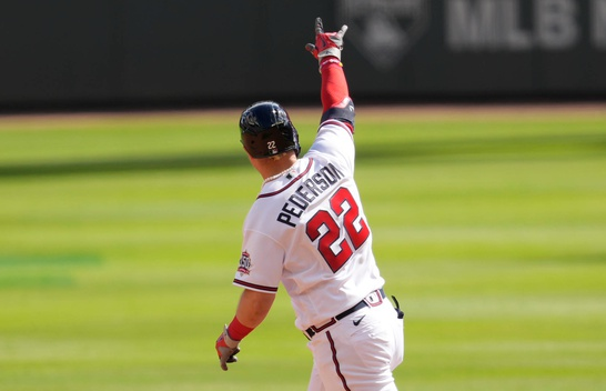 WATCH: Joc Pederson has the Atlanta Braves one game from the NLCS!