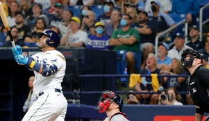 Nelson Cruz's home run didn't actually clear the outfield wall