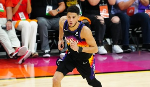 Devin Booker closes in on an NBA playoff record