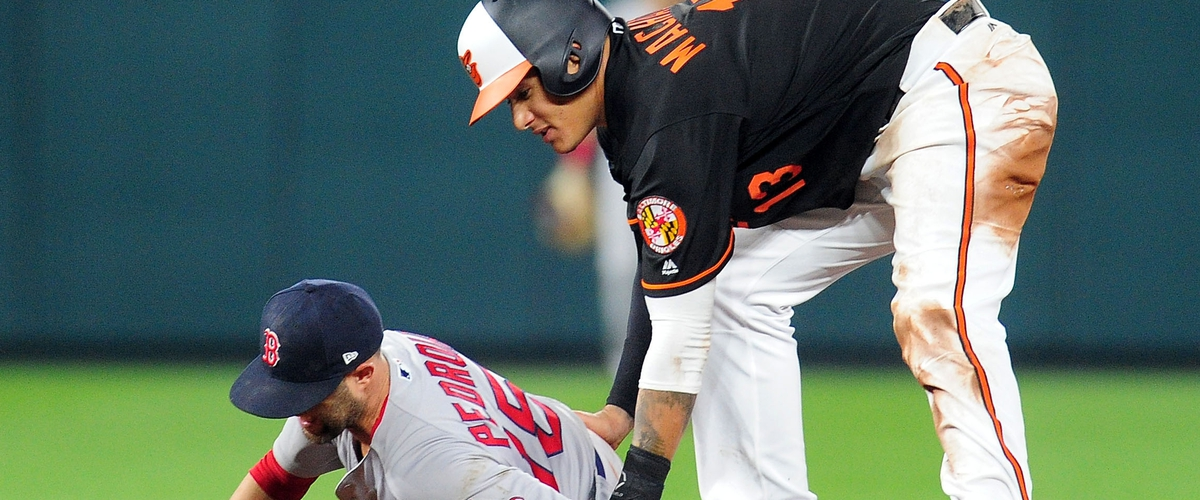 "Red Sox aren't happy with Manny Machado's ""late slide"" on Dustin Pedroia"