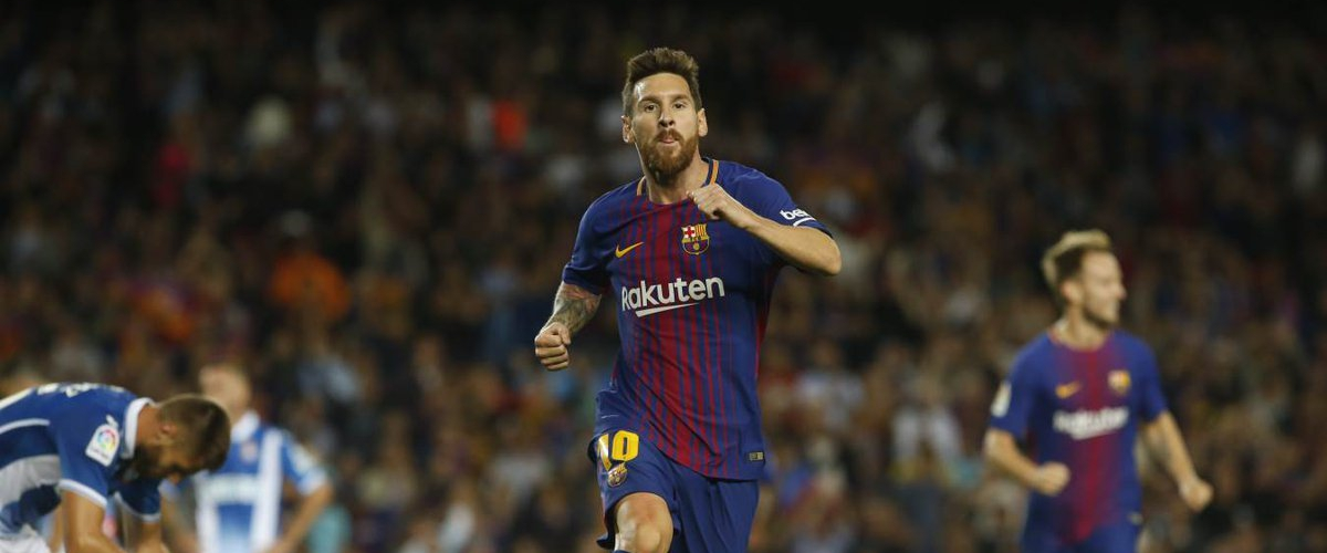 Messi marks a trick in Catalan derby but remains modest