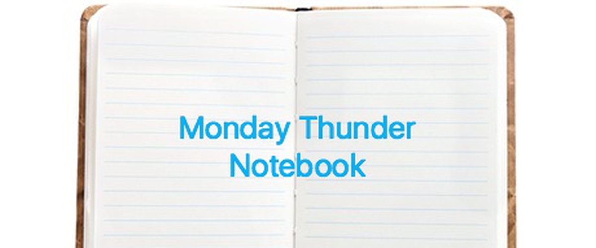 Thunder weekly notebook; Opening day Roster, This weeks games, and more