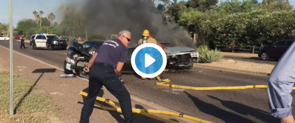 Former Diamondbacks Star Luis Gonzalez Pulls Woman Out Of Burning Car