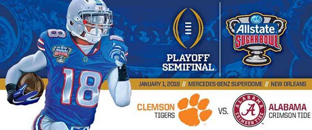 The Obstructed College Football Playoff Semi-Final #2: Clemson vs. Alabama