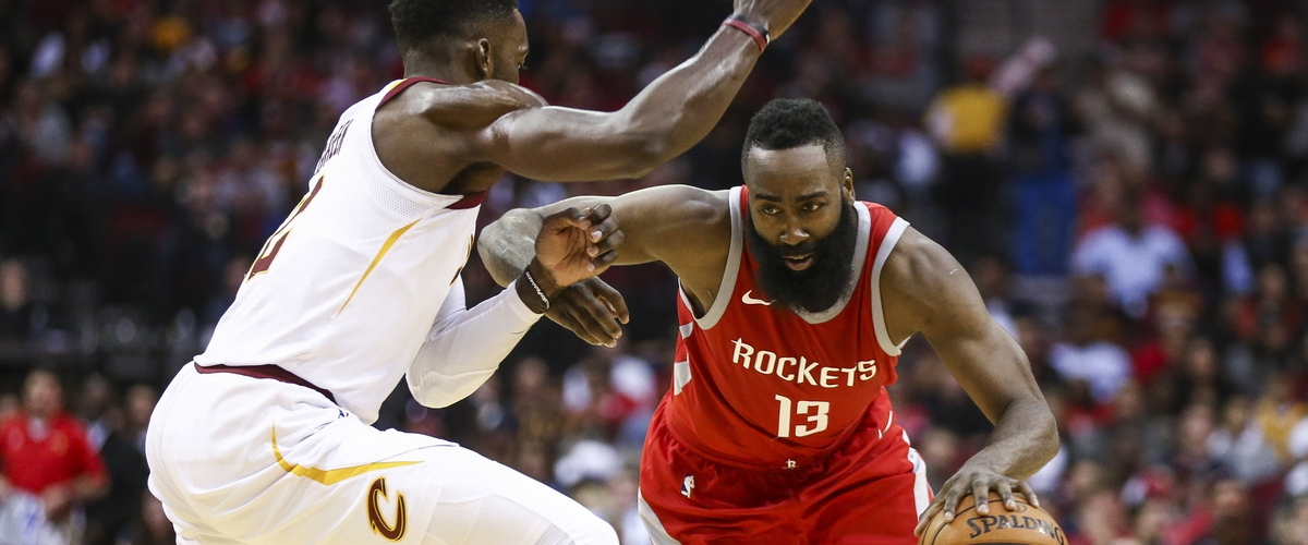 Harden's Triple-Double Leads Rockets Past Cavs