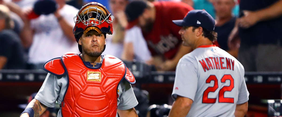 YADIER MOLINA ~ Where Has His Recent Defamation of Cardinals Manager Mike Matheny's character come from.