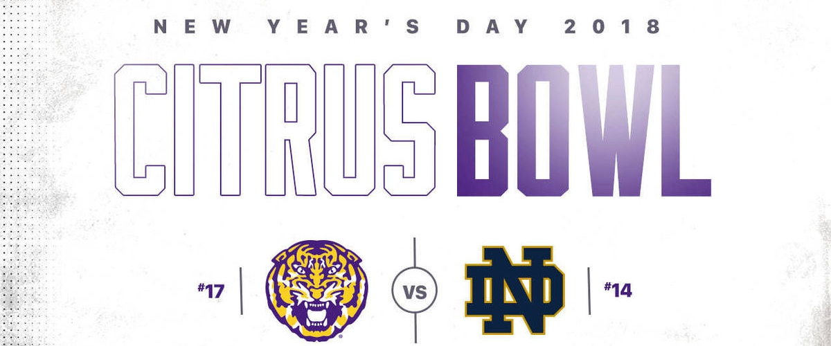 The Obstructed Citrus Bowl Preview: LSU vs. Notre Dame