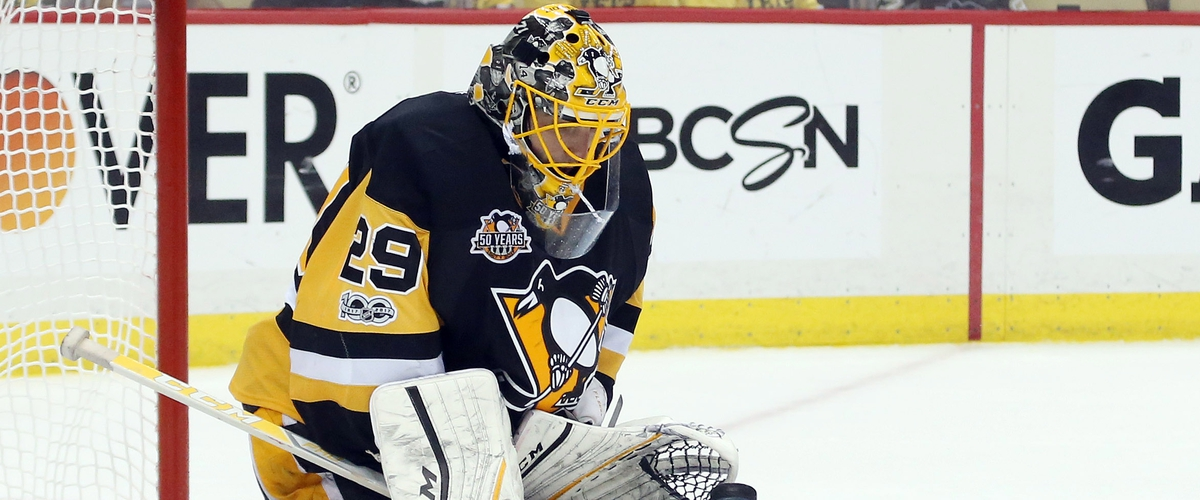 Fleury's 49 Saves Helps Penguins Eliminate Blue Jackets