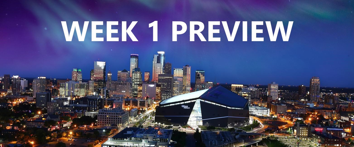 Week 1 NFL Preview: March to Minneapolis, Playoff Predictions