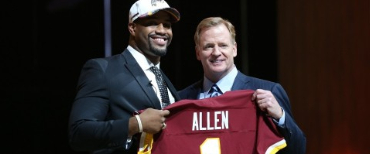 Redskins Day one draft grade.