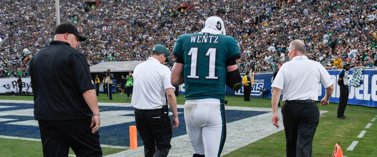Eagles' Franchise Quarterback, Carson Wentz Out for the Season with Left Knee Injury!