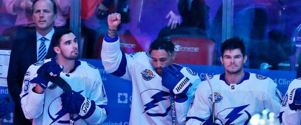 Tampa Bay Lightning's forward J.T. Brown first African American NHL player to protest in the anthem