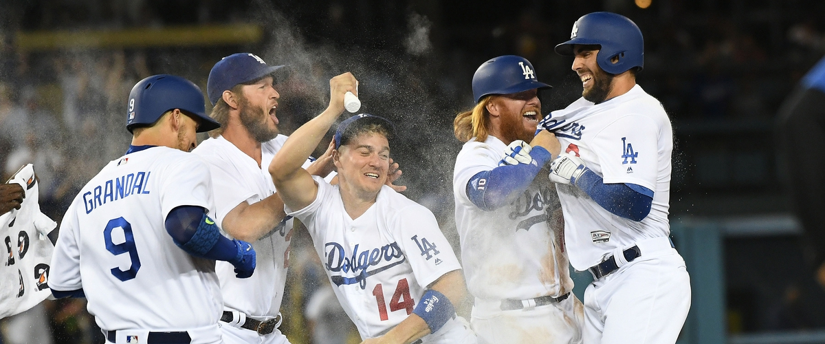 The Dodgers are on top of the baseball world