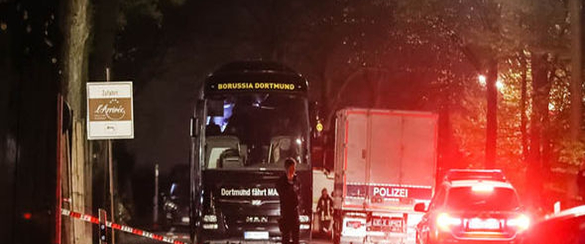 Dortmund player injured in bus blasts before Champions League match