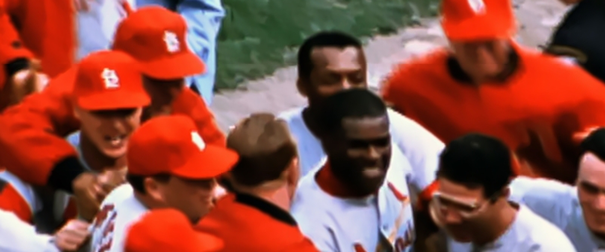 Cardinals Honor 1967 World Series Champs Over the Boston Red Sox. Current Series, Red Sox Down the Cardinals.