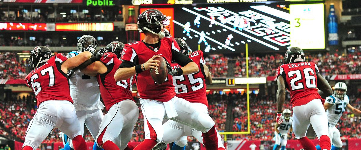 NFL Top 10 500-Yard Passing Games: No. 6 Matt Ryan (503 Yards vs. Panthers, 10-02-2016)