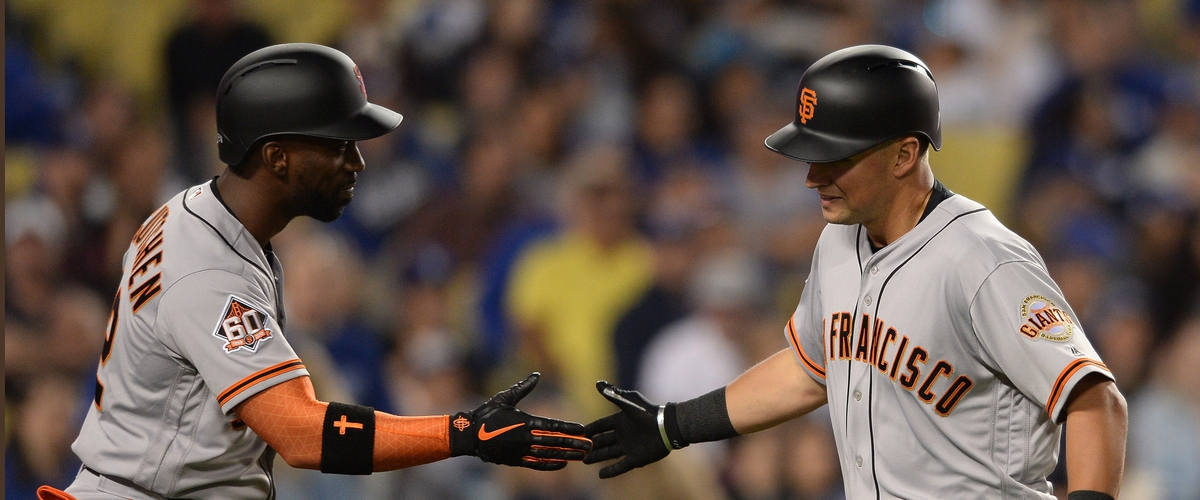 Giants eclipse last seasons' hope totals, beat LA in process