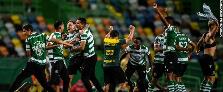 Sporting Lisbon reclaim Portuguese glory while fans clash with police