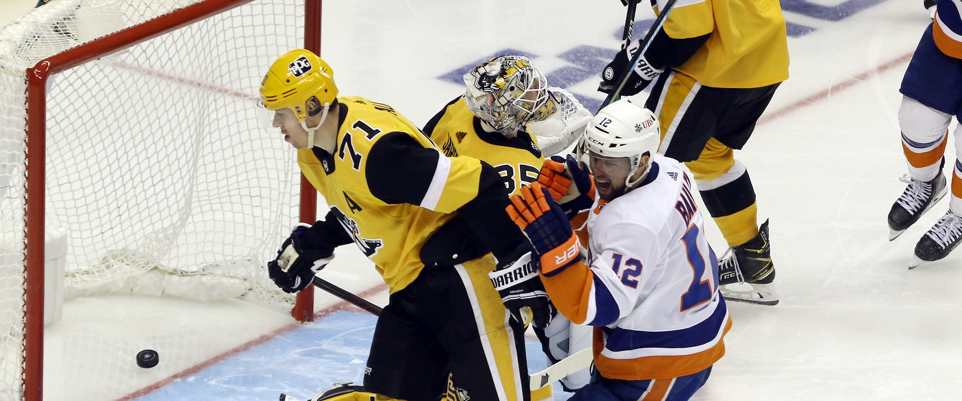 WATCH: Penguins gift the Islanders an overtime win