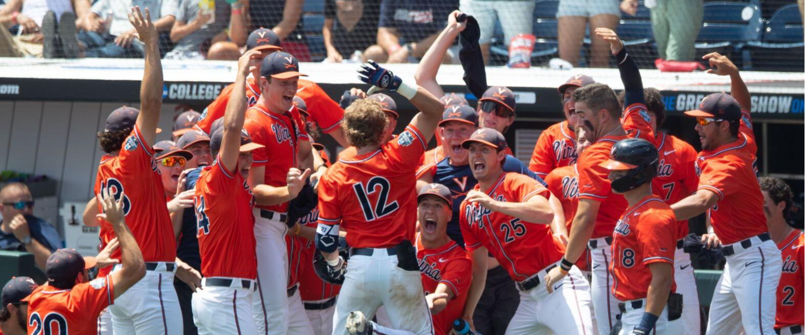 WATCH: Virginia catcher marks CWS debut with homerun while his dad watches from the stands!