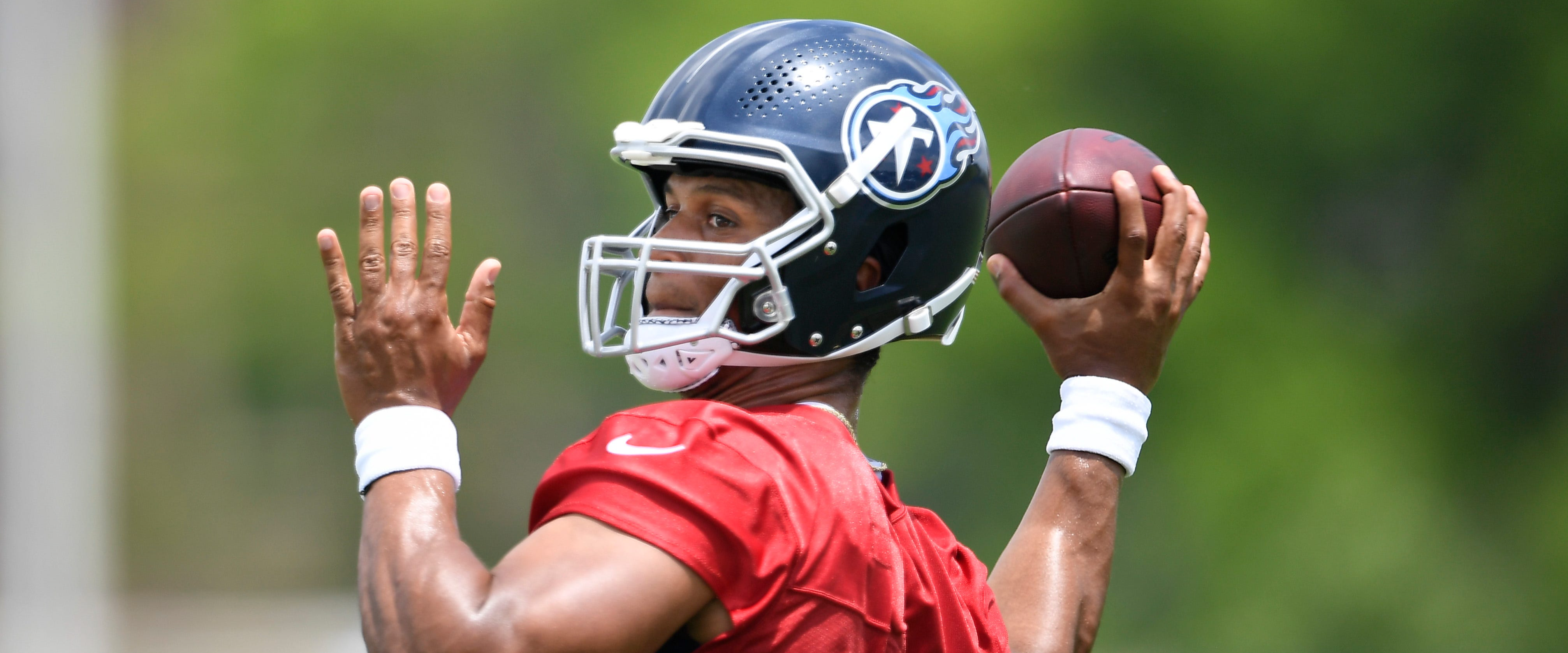 This backup quarterback has delighted during Titans minicamp