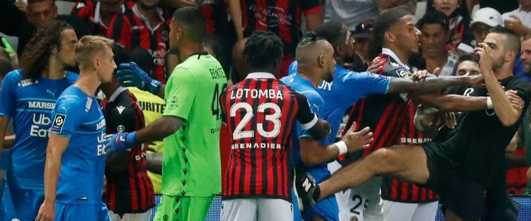 Deplorable fans in France rush field, attack opposing player in wild Ligue 1 match