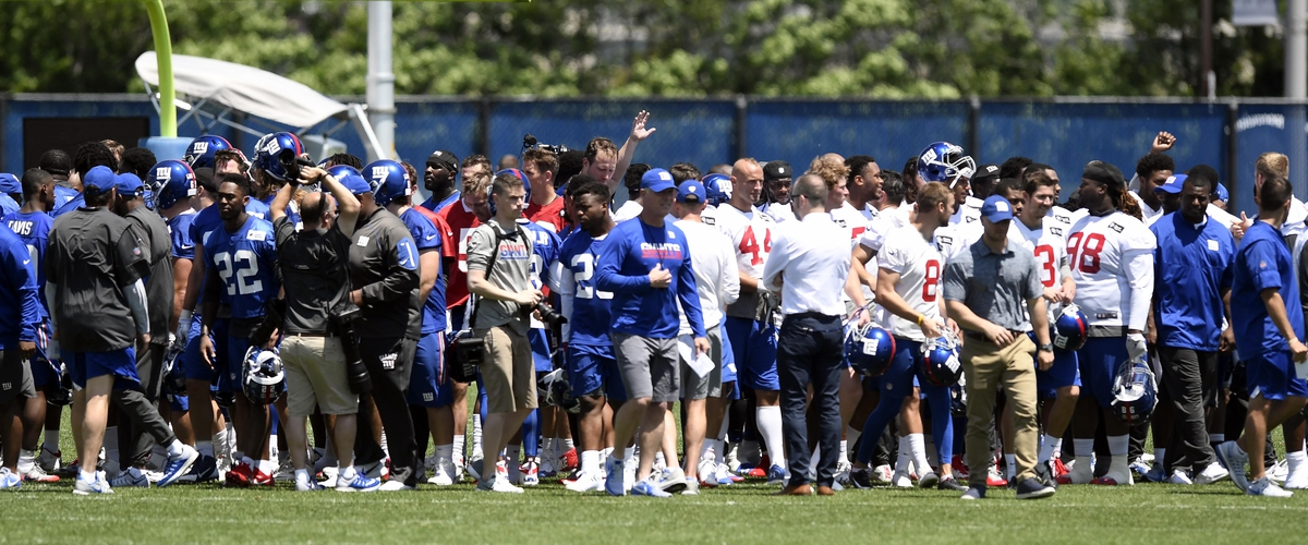New York Giants Player Fight on Last Day of Mini-Camp