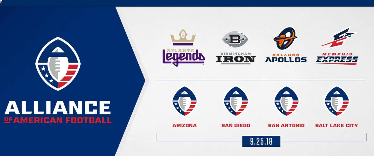 AAF Announces First Four Team Names and Logos