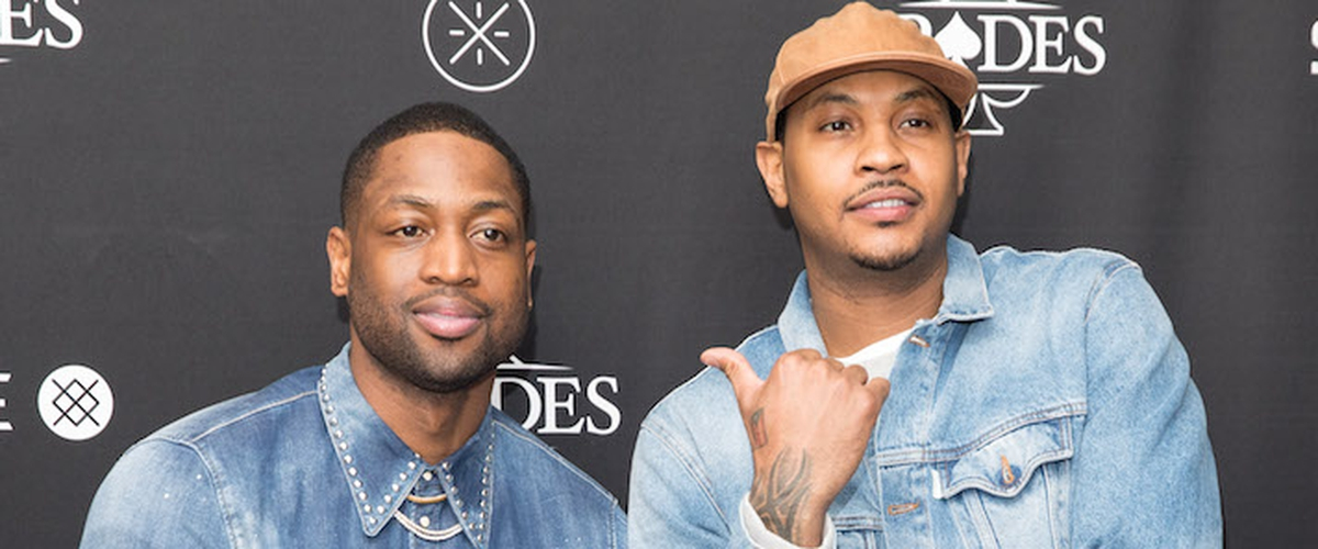 Heat's Wade comes to Carmelo Anthony's defense