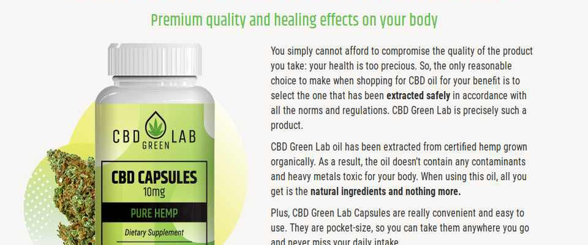 CBD Green Lab - You Can Get All The Health Benefits