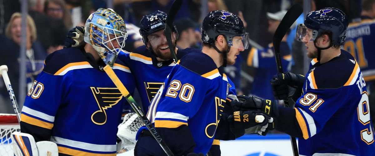 The Blues Beat the Sharks to Even Series at 2 Games Apiece.