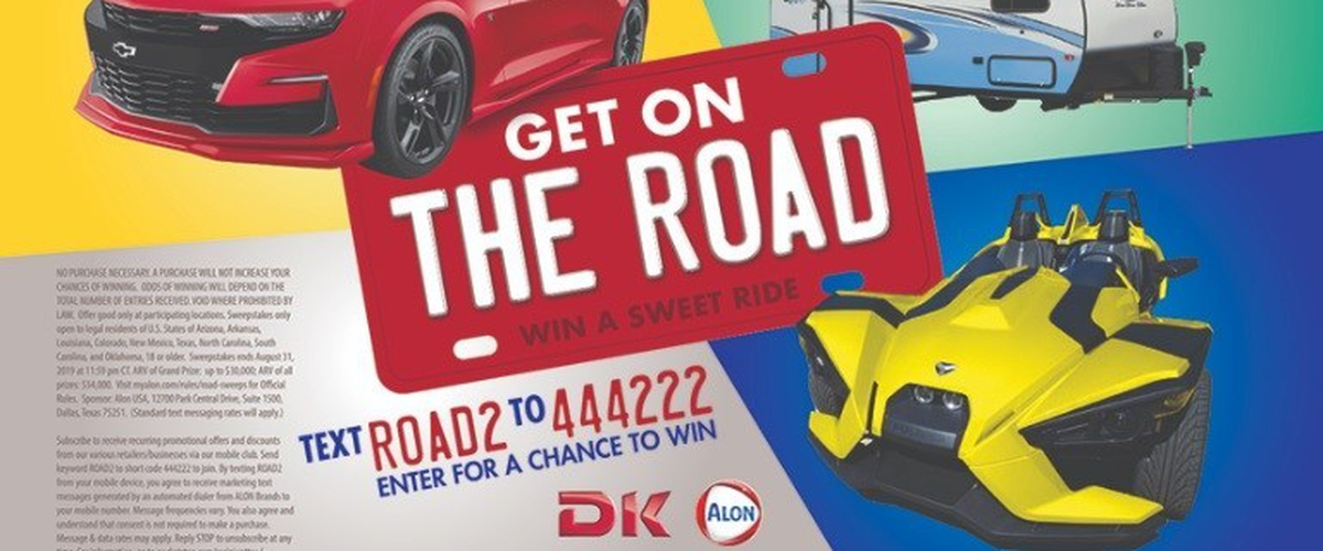 Alon Get On The Road Sweepstakes - Enter To Win Chevrolet Camaro