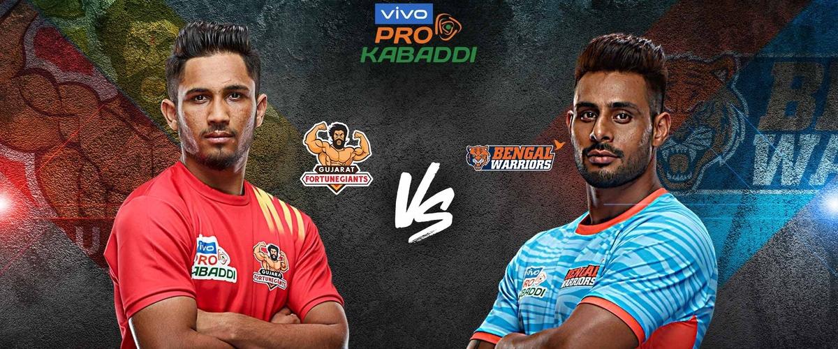 Bengal Warriors vs Gujarat Fortunegiants Dream11 Match Prediction, Live Score, Best Players: Pro Kabaddi 2019