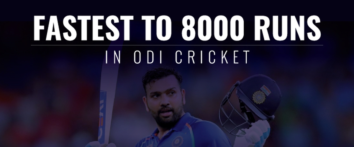 Fastest 8000 runs in ODI cricket