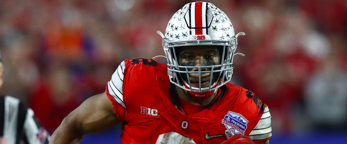J.K. Dobbins had declared for the NFL Draft.