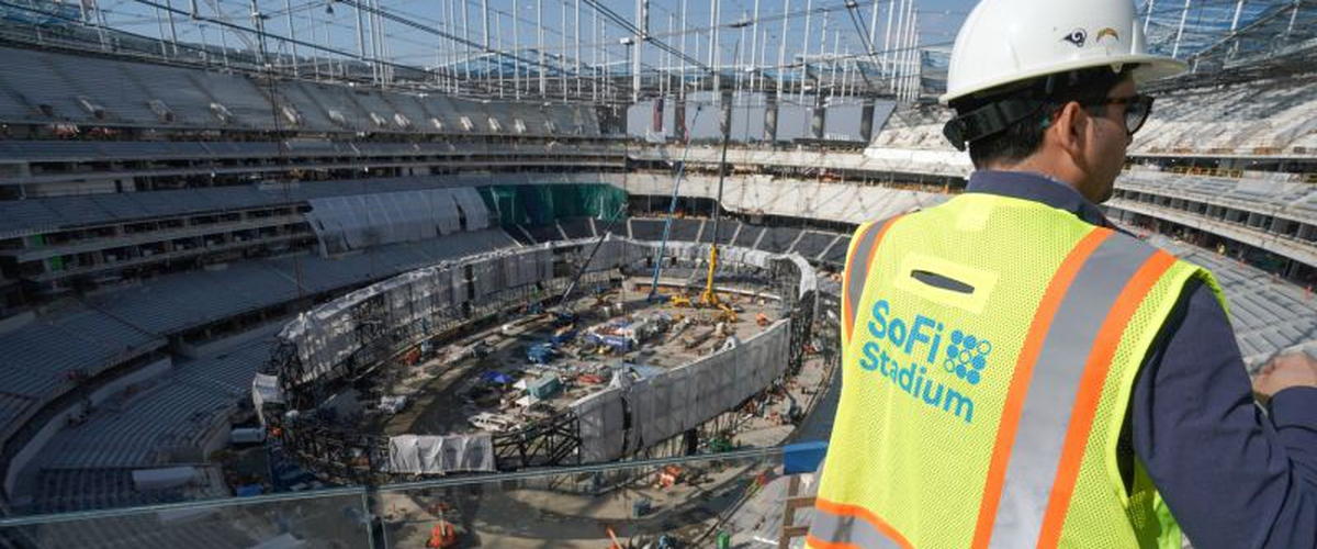 SoFi Stadium construction continues despite worker testing positive for coronavirus