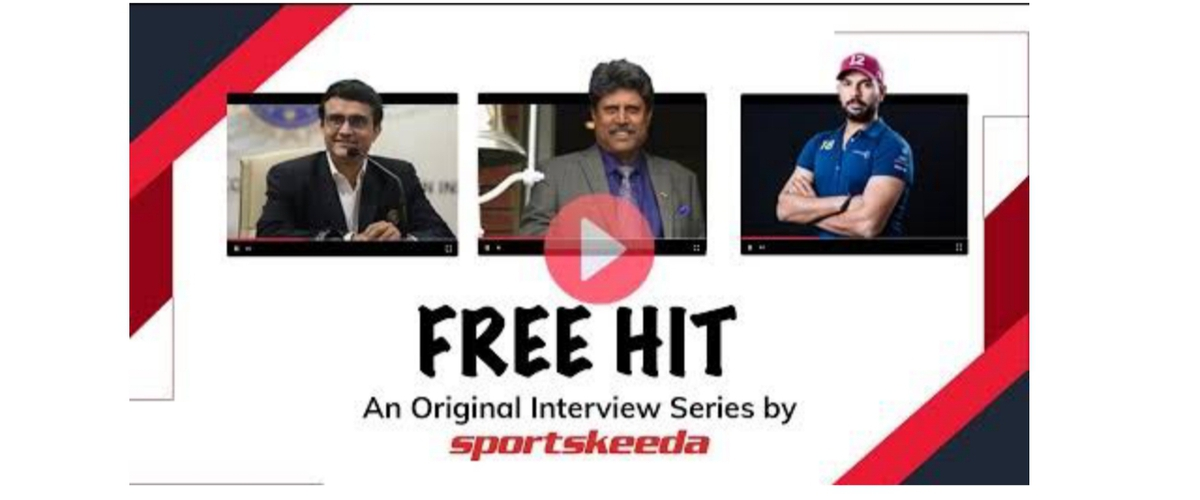 "Sportskeeda to launch an original interview series ""Free Hit"" with Sourav Ganguly, Kapil Dev, and Yuvraj Singh"
